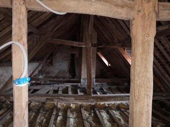 Rénovation de charpente - Avant